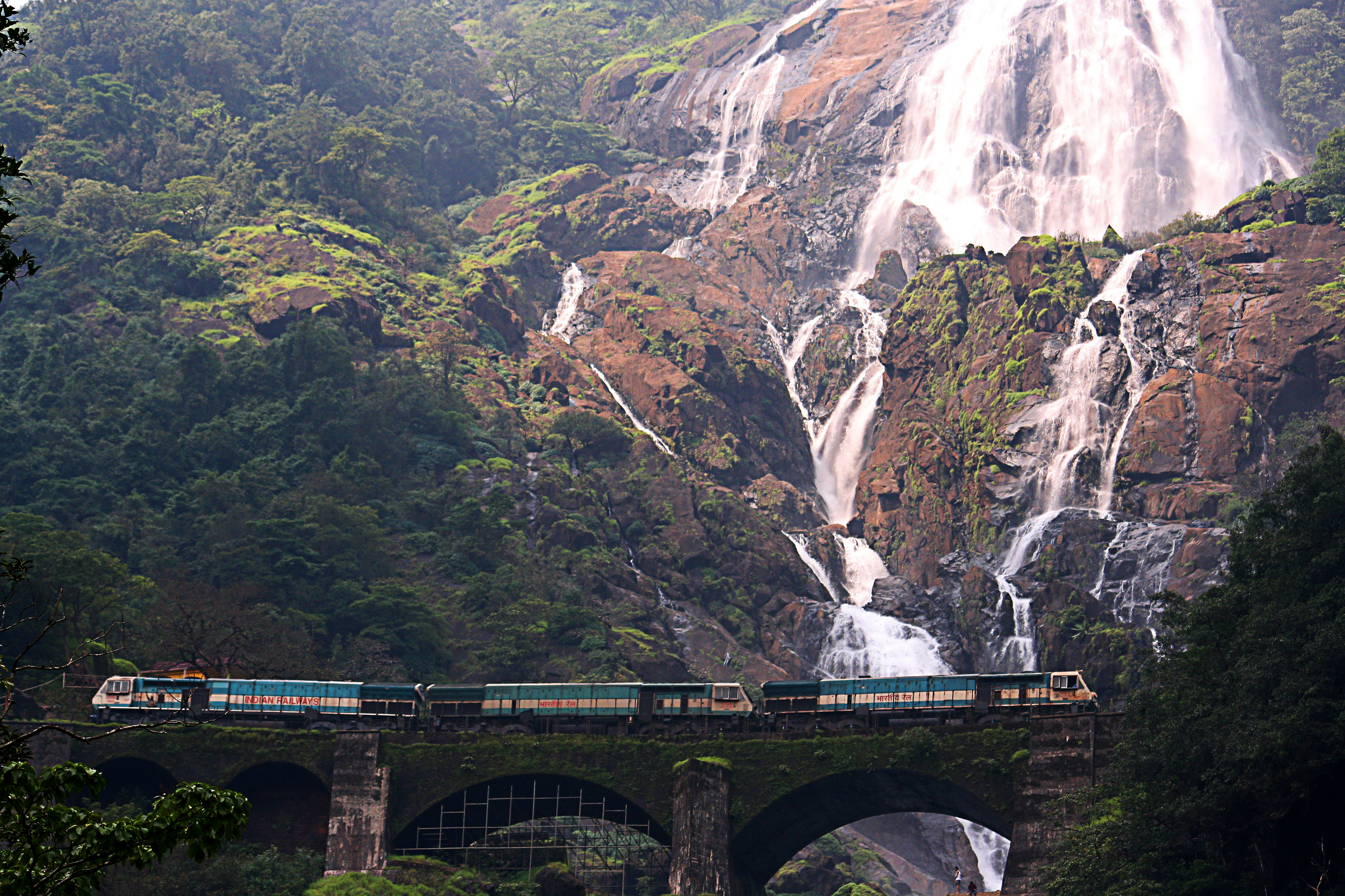 Konkan Railways at Dudhsagar Falls