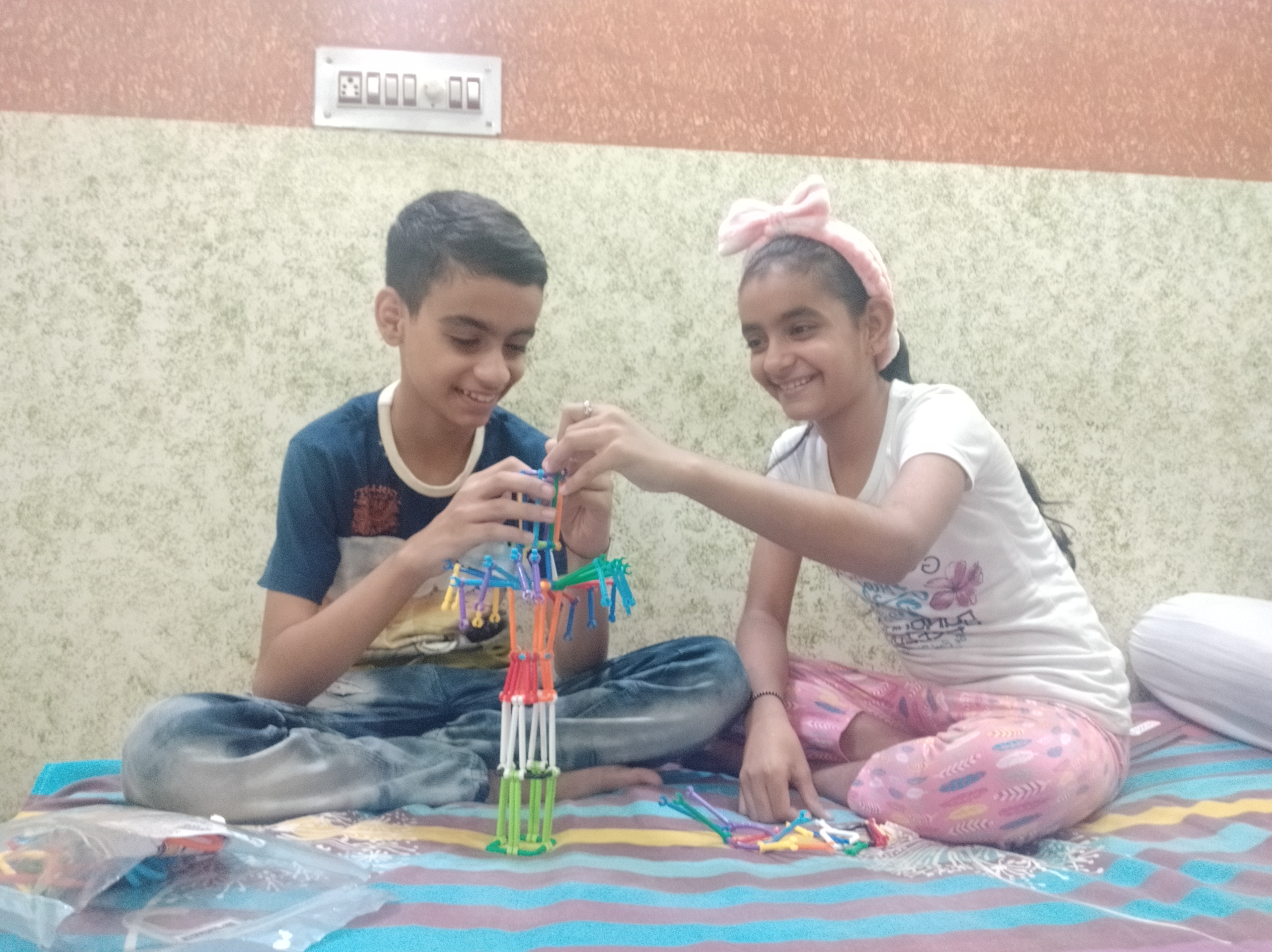 Tanish with his sister