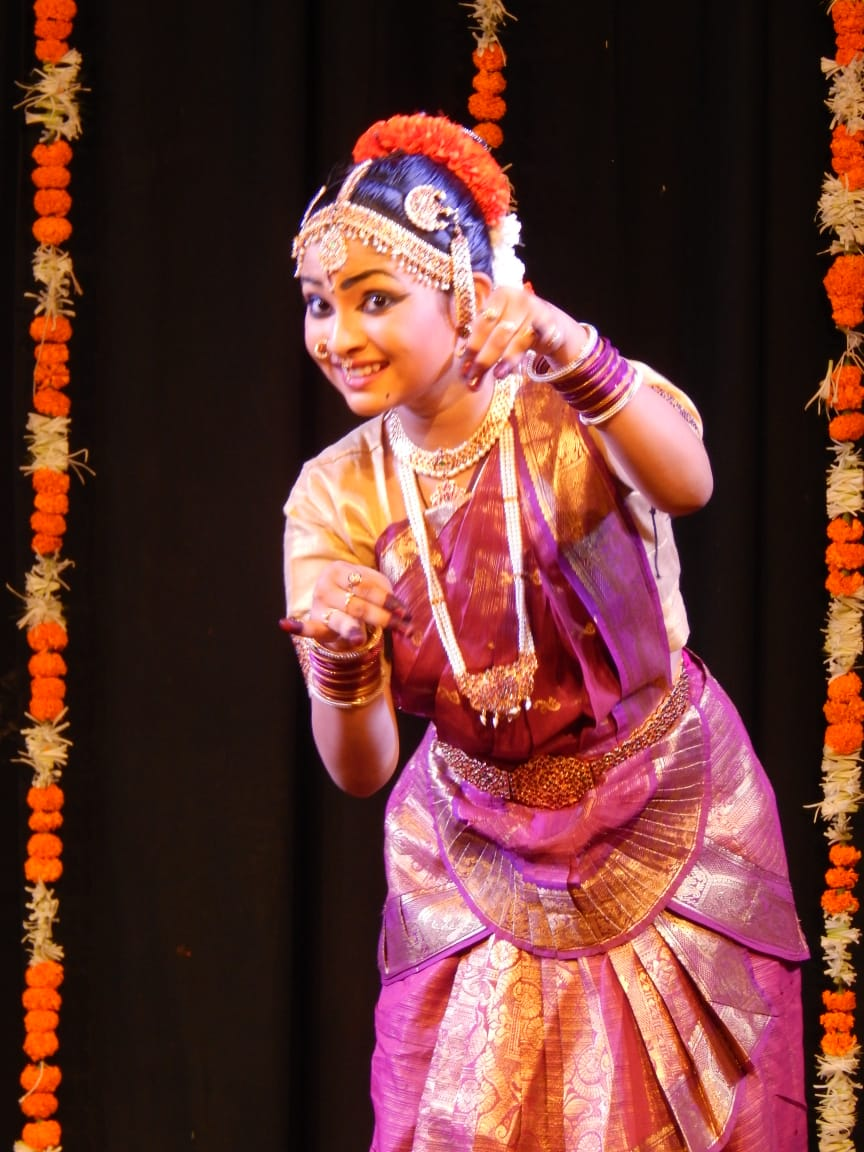 Shravani in one of her dance performances