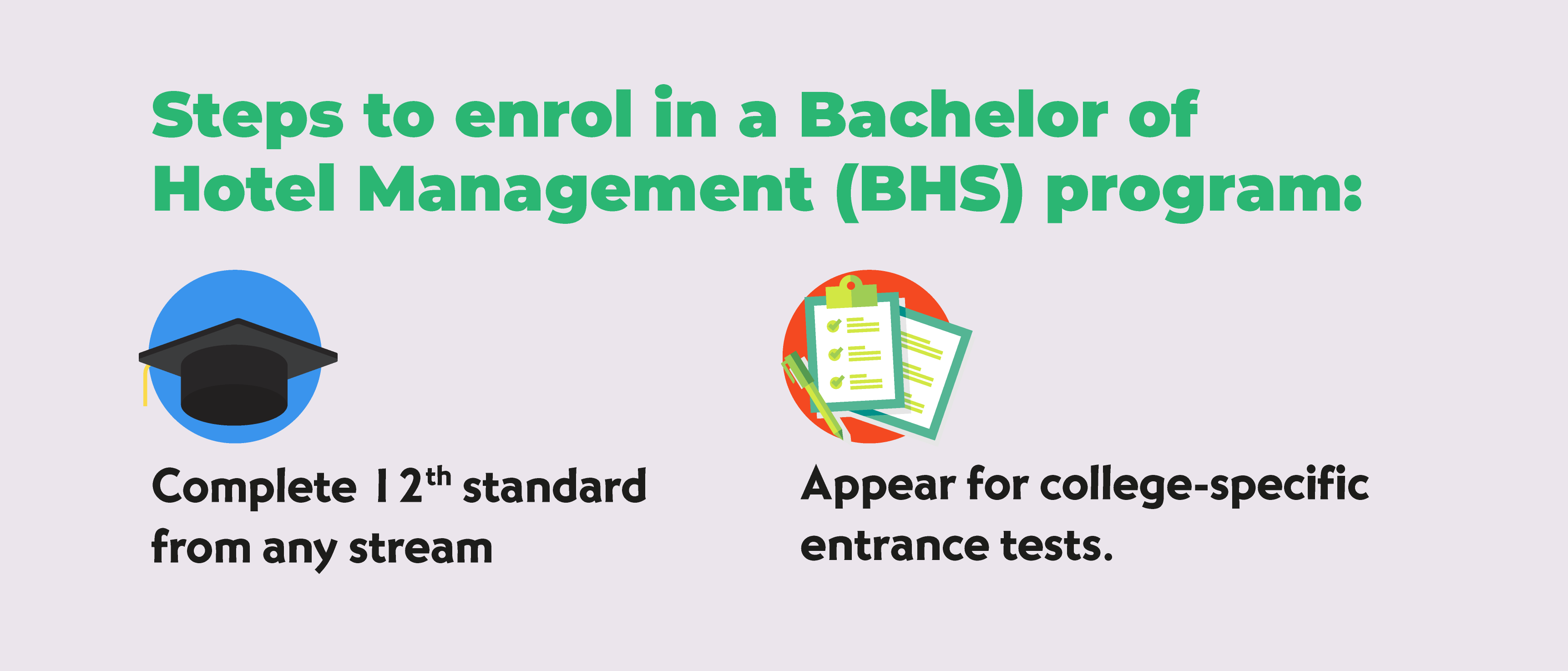 Steps to enrol in BHS program