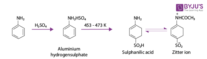 Representation of Sulphonation Reaction