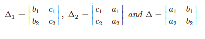 Determinant Method of Solving Linear Equations in Two Variables