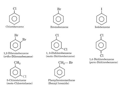 IUPAC Names of Some Haloarenes