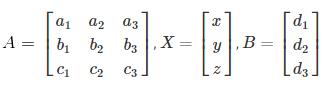 Solving Linear Equations Using Matrix Method