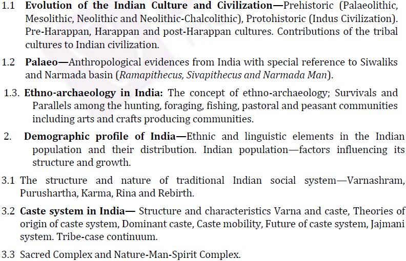 UPSC Anthropology Syllabus for IAS Mains- Anthropology Syllabus Paper-II 1
