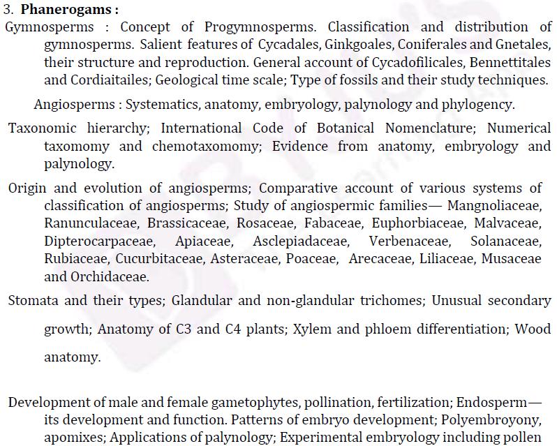 UPSC Botany Syllabus- Botany Optional Syllabus Paper-I 2