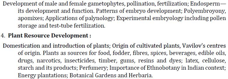 UPSC Botany Syllabus- Botany Optional Syllabus Paper-I 3