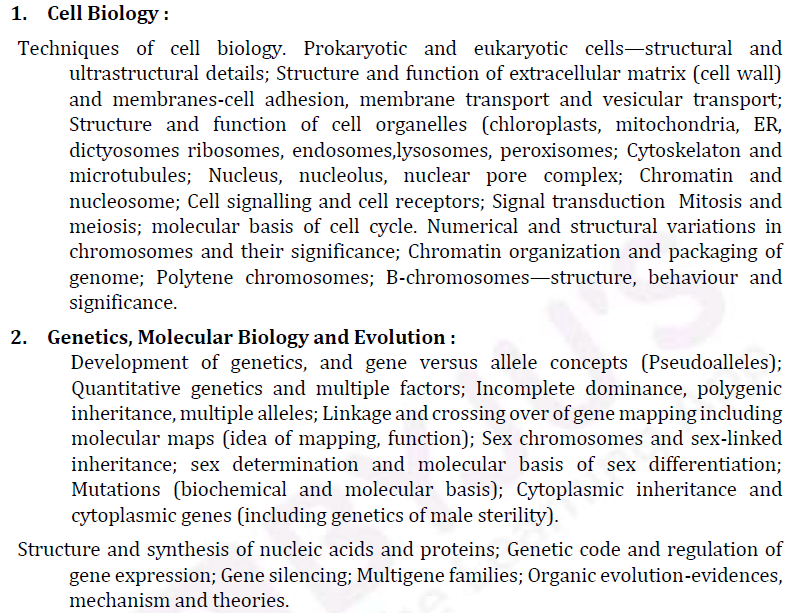 UPSC Botany Syllabus- Botany Optional Syllabus Paper-II 1