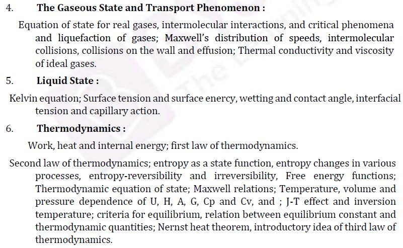 UPSC Chemistry Syllabus- Chemistry Optional Syllabus Paper-I 2