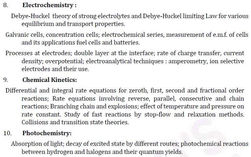 UPSC Chemistry Syllabus- Chemistry Optional Syllabus Paper-I 4