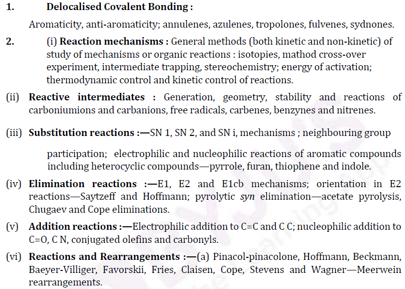 UPSC Chemistry Syllabus- Chemistry Optional Syllabus Paper-II 1