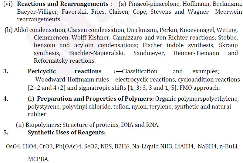 UPSC Chemistry Syllabus- Chemistry Optional Syllabus Paper-II 2