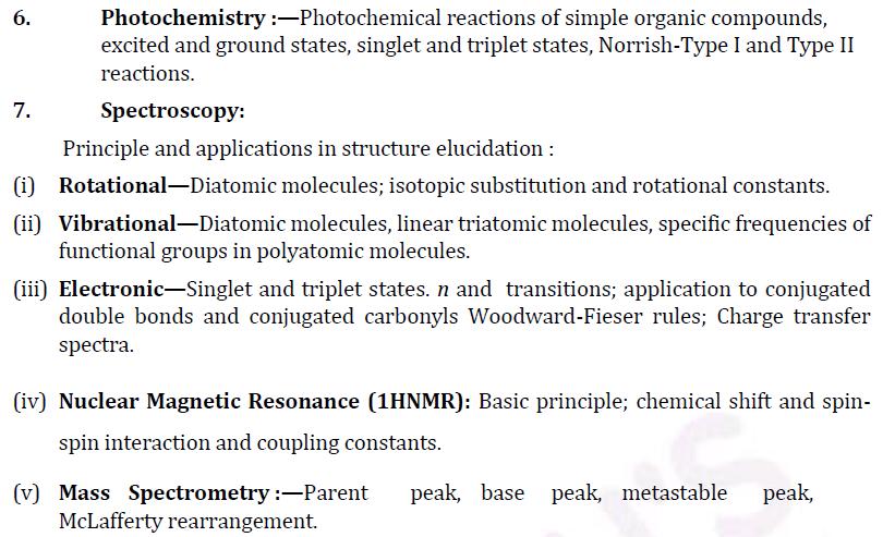 UPSC Chemistry Syllabus- Chemistry Optional Syllabus Paper-II 3