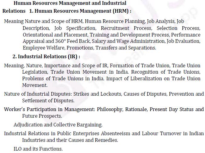 UPSC वाणिज्य पाठ्यक्रम- IAS वाणिज्य वैकल्पिक पाठ्यक्रम पेपर- II 3