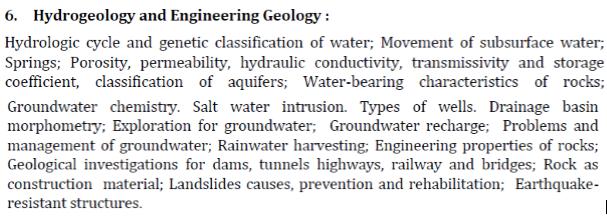 UPSC Geology Optional Paper I Syllabus-3