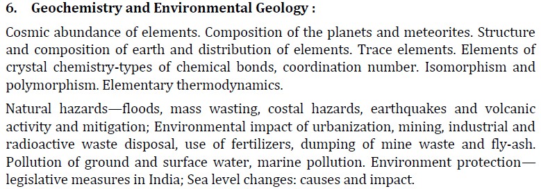 UPSC Geology Optional Paper II Syllabus-3