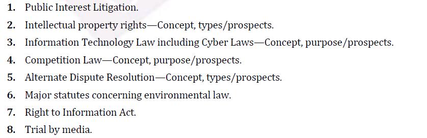 UPSC Law Syllabus- Law Optional Syllabus Paper-II 4