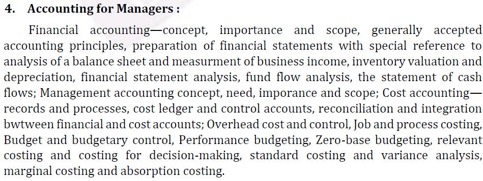 UPSC Management Syllabus- IAS Management Optional Syllabus for Paper I-3