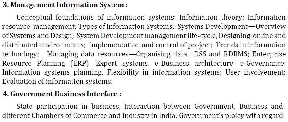 UPSC Management Syllabus- IAS Management Optional Syllabus for Paper II-2