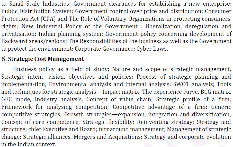 UPSC Management Syllabus- IAS Management Optional Syllabus for Paper II-3