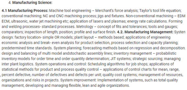 UPSC Mechanical Engineering Optional Syllabus- Mechanical Engineering Syllabus Paper-I- 2
