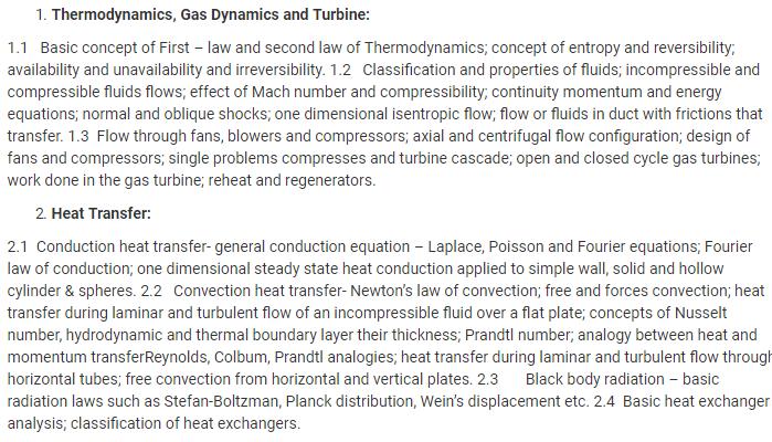UPSC Mechanical Engineering Optional Syllabus- Mechanical Engineering Syllabus Paper-II- 1