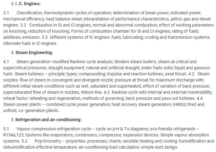 UPSC Mechanical Engineering Syllabus 2019- Download