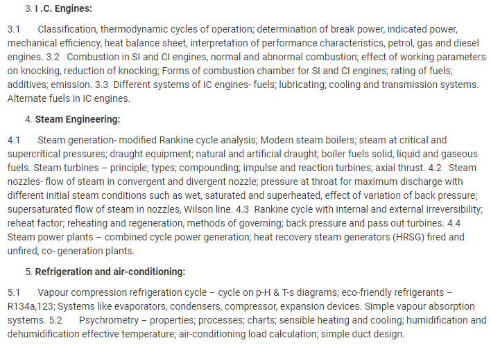 UPSC Mechanical Engineering Optional Syllabus- Mechanical Engineering Syllabus Paper-II- 2