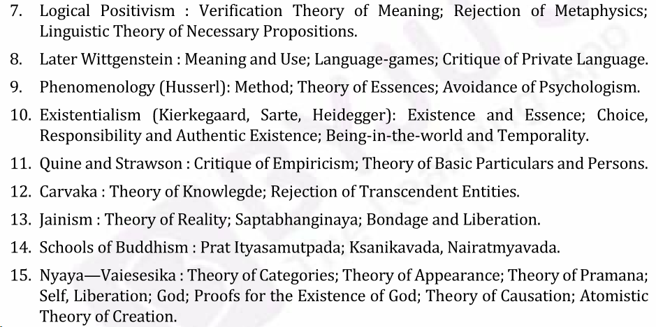 UPSC Philosophy Syllabus- Philosophy Optional Syllabus Paper-I