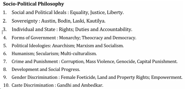 UPSC Philosophy Syllabus- Philosophy Optional Syllabus Paper-II
