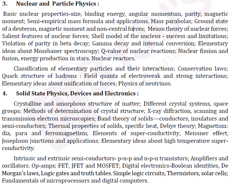 UPSC Physics Syllabus- Physics Optional Syllabus Paper-II 2