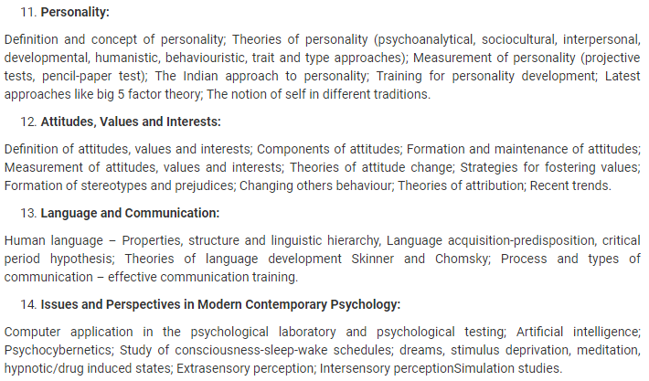 UPSC Psychology Syllabus- Syllabus for UPSC Psychology Paper-I - 3