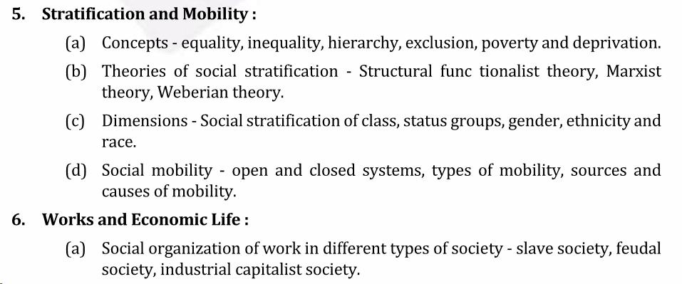 UPSC Sociology Syllabus- Sociology Optional Syllabus Paper-I 3