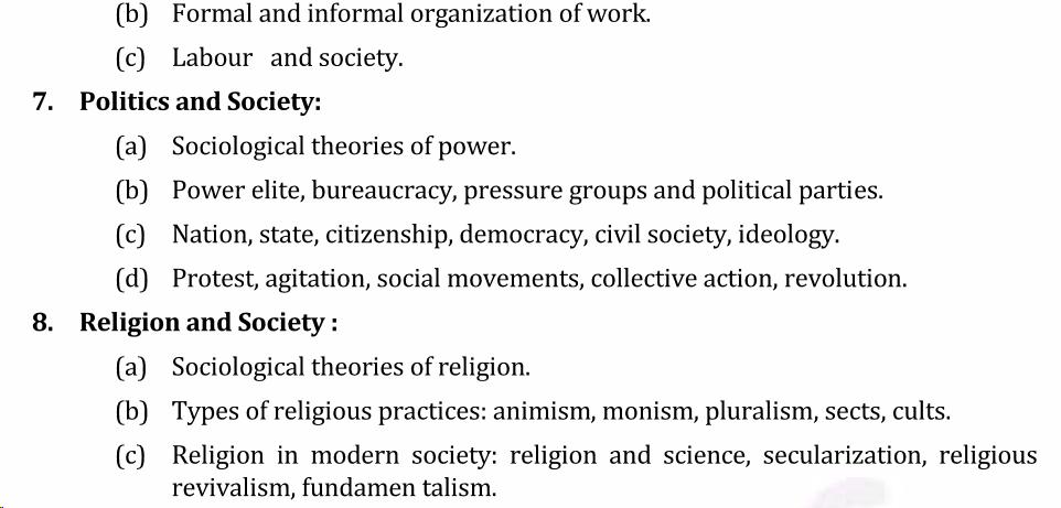 UPSC Sociology Syllabus- Sociology Optional Syllabus Paper-I 4