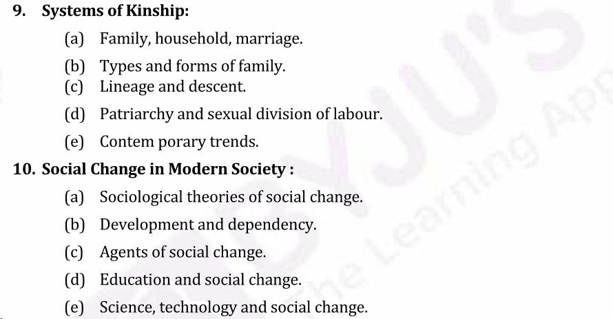 UPSC Sociology Syllabus- Sociology Optional Syllabus Paper-I 5