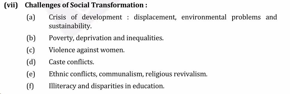 UPSC Sociology Syllabus- Sociology Optional Syllabus Paper-II 7