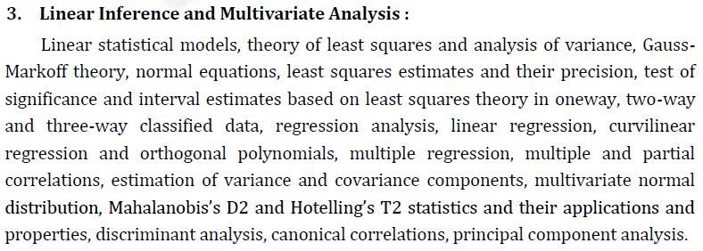 UPSC Statistics Syllabus- Statistics Optional Syllabus Paper-I 3