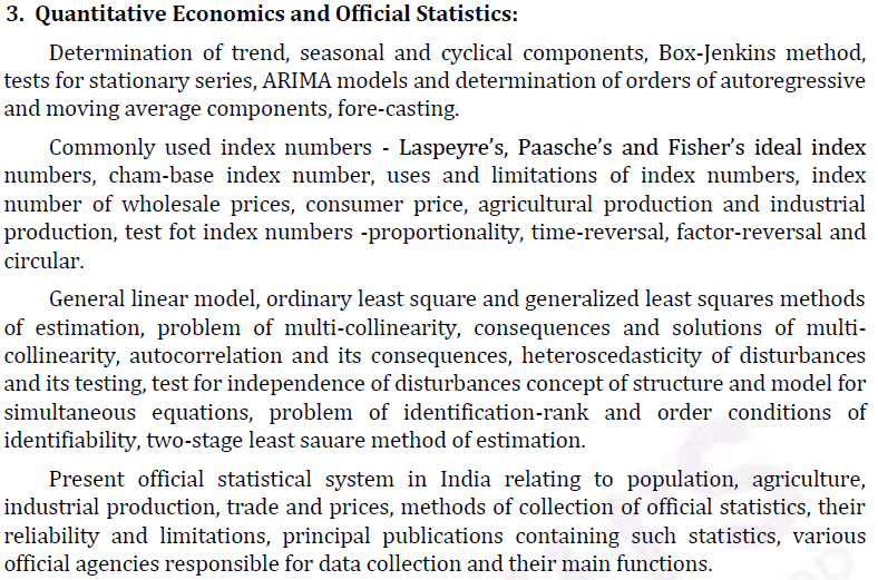 UPSC Statistics Syllabus- Statistics Optional Syllabus Paper-II 3