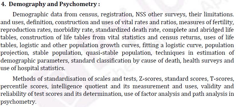 UPSC Statistics Syllabus- Statistics Optional Syllabus Paper-II 4