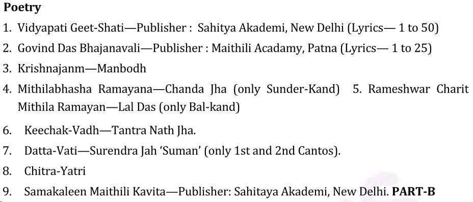 UPSC Maithali Literature Syllabus- Maithali Literature Optional Syllabus Paper-II 1