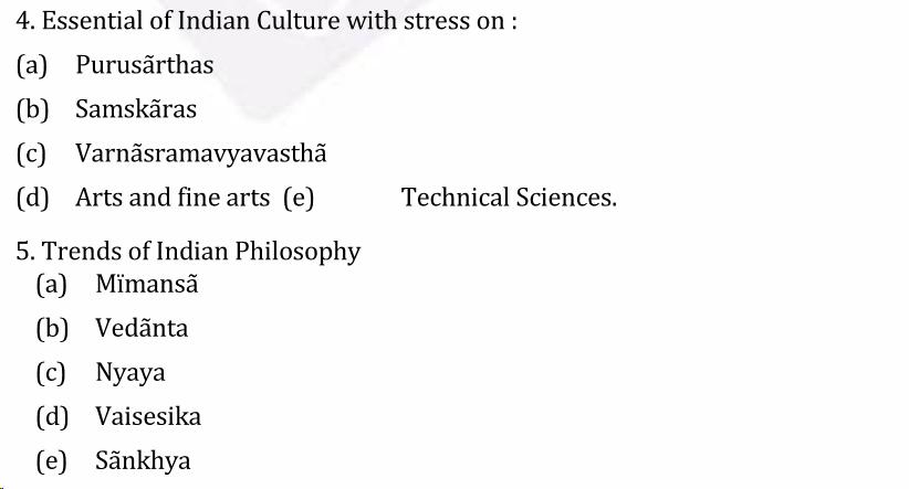 UPSC Sanskrit Literature Syllabus- Sanskrit Literature Optional Syllabus Paper-I 3