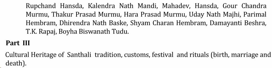 UPSC Santhali Literature Syllabus- Santhali Literature Optional Syllabus Paper-I 4