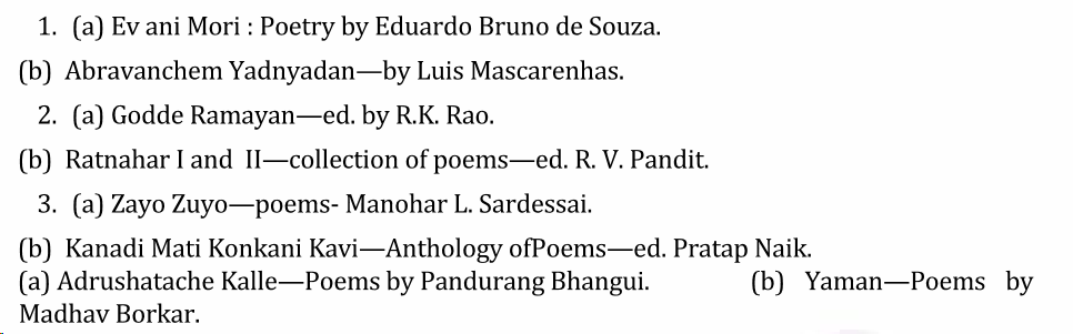 UPSC Konkani Literature Syllabus- Konkani Literature Optional Syllabus Paper-II 3