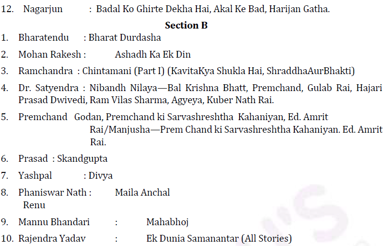 UPSC Hindi Literature Syllabus- Hindi Literature Optional Syllabus Paper-II 2