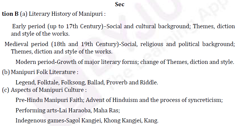 UPSC Manipuri Literature Syllabus- Manipuri Literature Optional Syllabus Paper-I 2