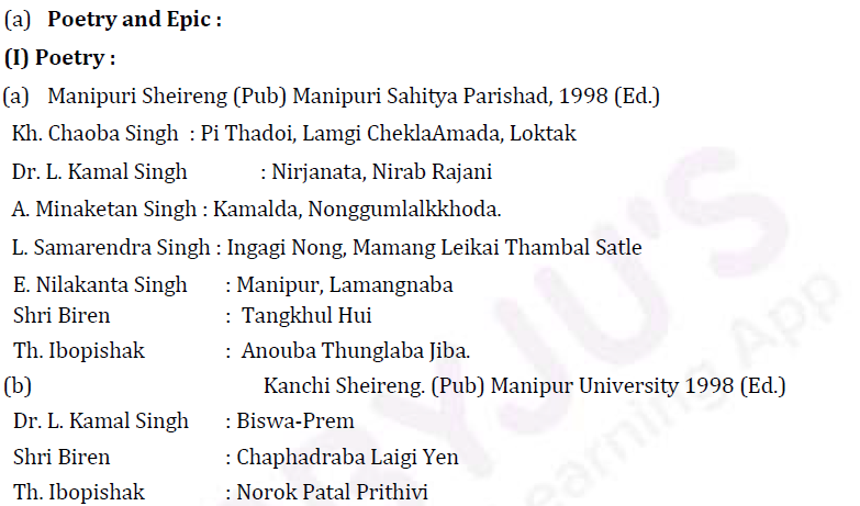 UPSC Manipuri Literature Syllabus- Manipuri Literature Optional Syllabus Paper-II 3