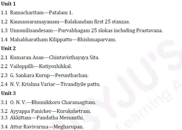 UPSC Malayalam Literature Syllabus- Malayalam Literature Optional Syllabus Paper-II 1