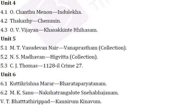 UPSC Malayalam Literature Syllabus- Malayalam Literature Optional Syllabus Paper-II 2