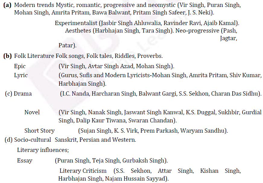 UPSC Punjabi Literature Syllabus- Punjabi Literature Optional Syllabus Paper-I 2