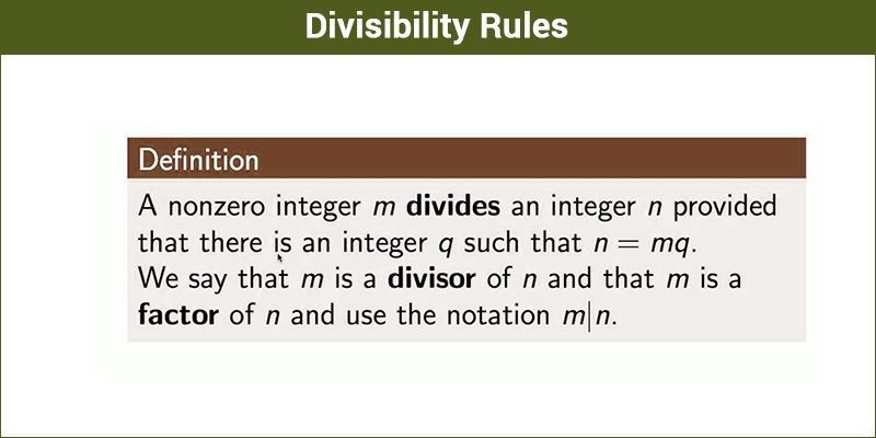 Divisibility Rules/test